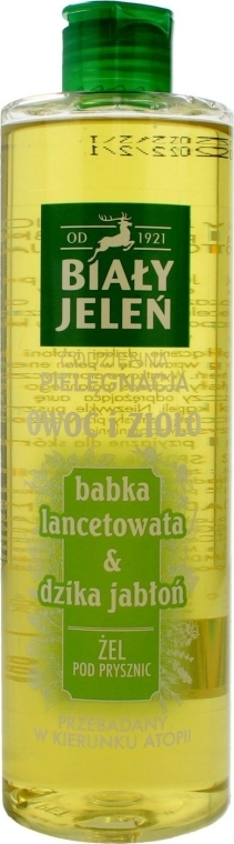 "Gel doccia ""Piantaggine e mela selvatica"" - Bialy Jelen"