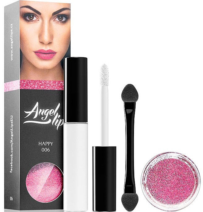 Set - Di Angelo Angel Lips (base/4ml + glitter/3g) (001 – Dark)