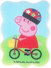 "Profumi e cosmetici Spugna da bagno per bambini ""Peppa Pig"", Peppa in bicicletta - Suavipiel Peppa Pig Bath Sponge"