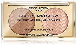 Profumi e cosmetici Palette per il contouring del viso - Makeup Revolution Pro Sculpt And Glow