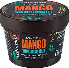 """Profumi e cosmetici Burro corpo """"Mango e Cocco"""" - Cafe Mimi Body Butter Mango And Coconut"""