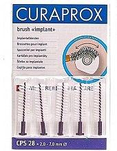Profumi e cosmetici Set di spazzole interdentali per impianti, CPS 28, 5 pezzi - Curaprox Strong Implant