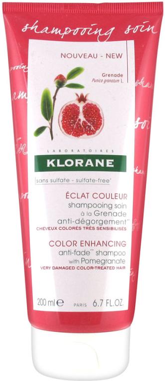 Shampoo per capelli - Klorane Color Enhancing Anti-Fade Shampoo With Pomegranate — foto N1