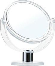 Profumi e cosmetici Specchio da tavolo, bilaterale, 9275, bianco, 12 cm - Donegal Mirror