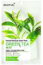 Profumi e cosmetici Maschera in tessuto idratante all'estratto di tè verde - Eunyul Natural Moisture Mask Pack Green Tea