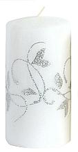 Profumi e cosmetici Candela decorativa bianca, 7x10cm - Artman Amelia