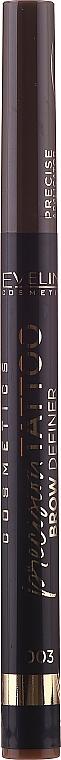 Pennarello per sopracciglia - Definer per sopracciglia Eveline Cosmetics Precision Tattoo (1 pz)