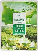 Profumi e cosmetici Maschera in tessuto con estratti di aloe e tè verde - Deoproce Color Synergy Effect Sheet Mask Green