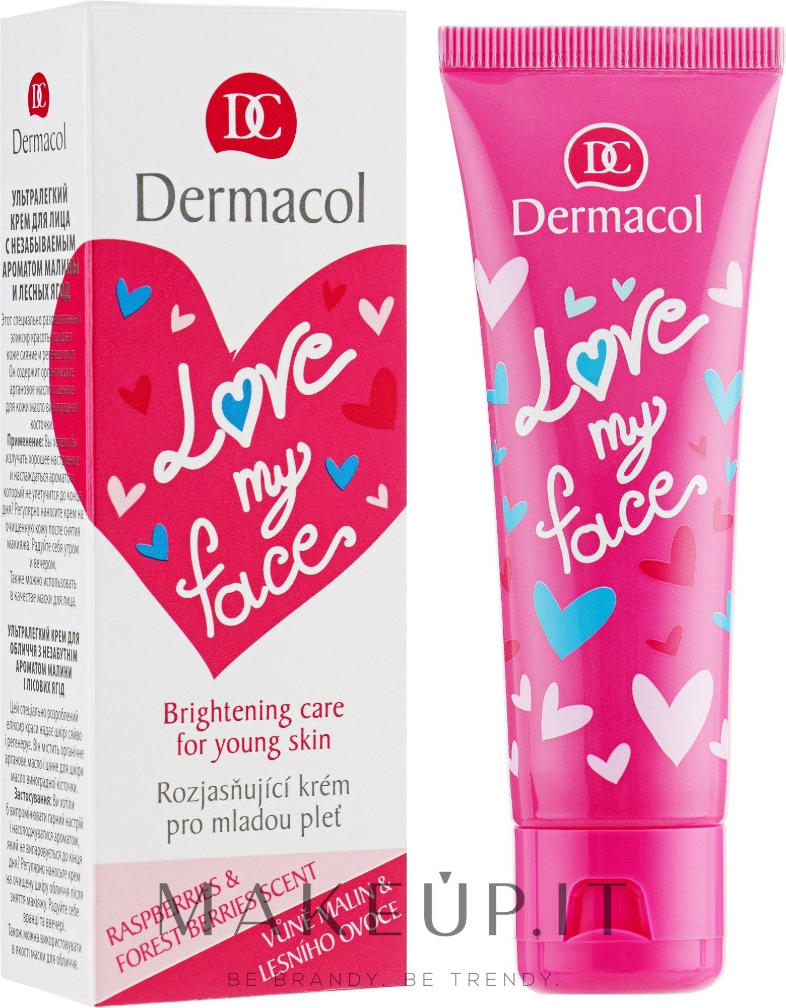 Emulsione per il viso con aroma di lamponi e frutti di bosco - Dermacol Love My Face Rasberries & Forst Berries Scent Face Cream — foto 50 ml