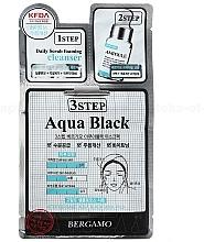 Profumi e cosmetici Trattamento viso in tre fasi - Bergamo 3Step Black Aqua Mask Pack