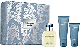 Profumi e cosmetici Dolce&Gabbana Light Blue Pour Homme - Set (edt/125ml + sh/gel/ 50ml + ash/balm/75ml)