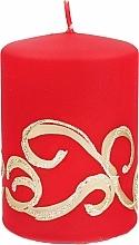 Profumi e cosmetici Candela decorativa, rossa, 7x14 cm - Artman Christmas Ornament