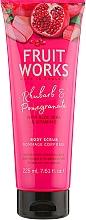 """Profumi e cosmetici Scrub corpo """"Rabarbaro e melograno"""" - Grace Cole Fruit Works Body Scrub Rhubarb & Pomegranate"""