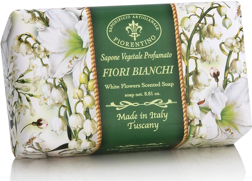 """Sapone naturale """"Fiori bianchi"""" - Saponificio Artigianale Fiorentino White Flowers Scented Soap"""