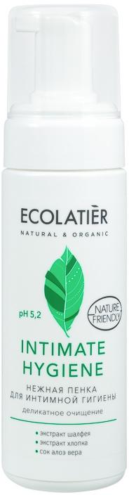 Schiuma per l'igiene intima con estratti di salvia e cotone - Ecolatier Intimate Hygiene