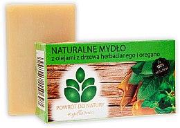"""Profumi e cosmetici Sapone naturale """"Tea tree oil e origano"""" - Powrot Do Natury"""