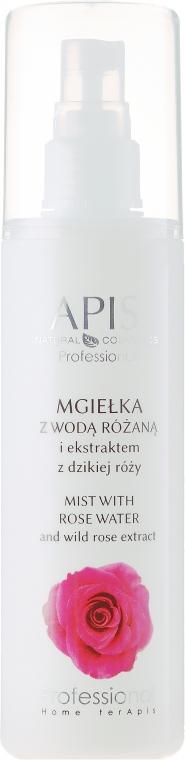 Nebbia viso con acqua di rose ed estratto di rosa canina - Apis Professional Home terApis Mist Rose & Wild Rose Extract