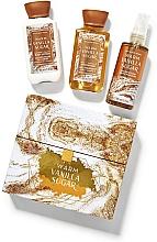 Profumi e cosmetici Bath and Body Works Warm Vanilla Sugar - Set (sh/gel/88ml+body/lot/88ml+body/mist/88ml)