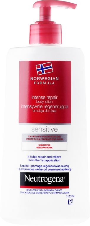 Lozione corpo rigenerante - Neutrogena Norwegian Formula Intense Repair Body Lotion