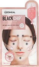 Profumi e cosmetici Maschera antirughe in tessuto, nera - Mediheal Black Chip Circle Point Mask