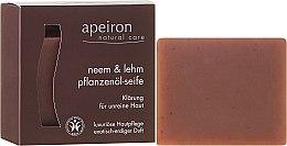 Profumi e cosmetici Sapone naturale al miele e argilla indiana per pelli problematiche - Apeiron Neem & Clay Plant Oil Soap