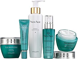 Profumi e cosmetici Set - Oriflame NovAge True Perfection (f/gel/150ml+eye/cr/15ml+ser/30ml+d/cr/50ml+n/cr/50ml)