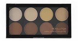 Profumi e cosmetici Palette trucco, 8 tonalità - Makeup Revolution Iconic Lights & Contour Pro