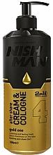 Profumi e cosmetici Crema-colonia dopobarba - Nishman After Shave Cream Cologne 2in1 Gold One №04