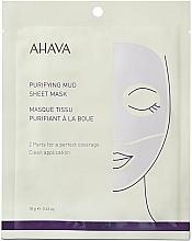 Profumi e cosmetici Maschera in tessuto purificante - Ahava Purifying Mud Sheet Mask