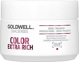 Profumi e cosmetici Maschera intensa per capelli tinti - Goldwell DualSenses Color Extra Rich 60sec Treatment