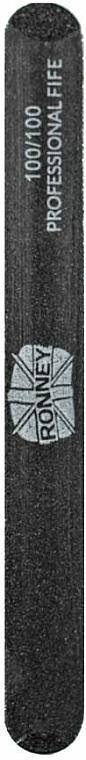 Lima per unghie, 100/100, nera, dritta - Ronney Professional