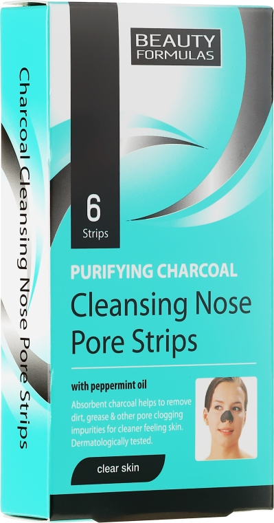 Cerotti, pulizia profonda pelle naso - Beauty Formulas Purifying Charcoal Deep Cleansing Nose Pore