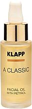 Profumi e cosmetici Olio viso al retinolo - Klapp A Classic Facial Oil With Retinol