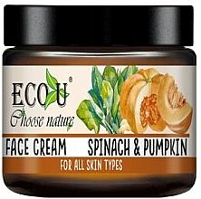 """Profumi e cosmetici Crema viso """"Zucca e spinaci"""" - Eco U Pumpkins And Spinach Face Cream"""
