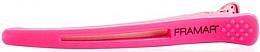 Profumi e cosmetici Fermaglio per capelli con inserto elastico, rosa - Framar Elastic Sectioning Hair Clips