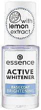 Profumi e cosmetici Base per unghie sbiancante - Essence Active Whitener Base Coat Brightening