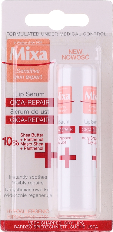 Siero labbra - Mixa Cica-Repair Lip Serum