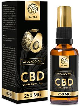 Olio di avocado naturale Bio CBD 250mg - Dr. T&J Bio Oil