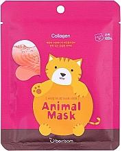 Profumi e cosmetici Maschera in tessuto al collagene marino - Berrisom Animal Mask Collagen Series Cat