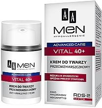 Profumi e cosmetici Crema viso antirughe - AA Men Advanced Care Vital 40+ Face Cream Anti-Wrinkle