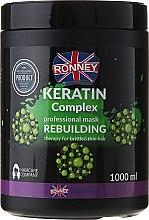 Profumi e cosmetici Maschera per capelli - Ronney Keratin Complex Rebuilding Therapy Mask
