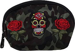 "Profumi e cosmetici Beauty case ""Camouflage"", 95870, rose e teschio - Top Choice"