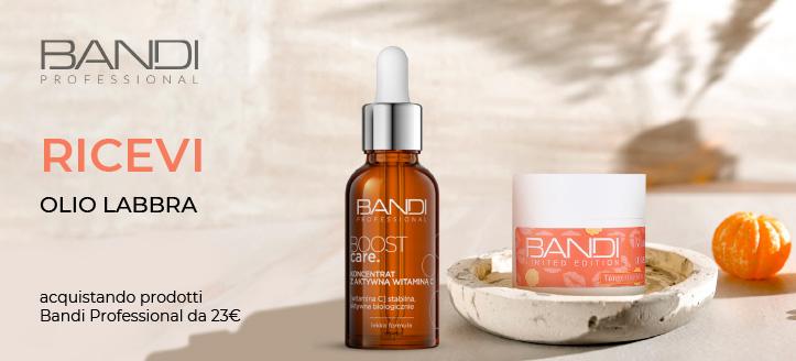 Acquistando prodotti Bandi Professional da 23 €, ricevi in regalo un olio labbra