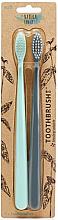 Profumi e cosmetici Set - The Natural Family Co Bio Brush Rivermint & Monsoon Mist (toothbrush/1pcs + toothbrush/1pcs)