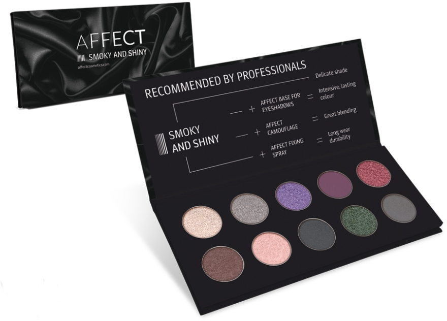 Palette ombretti - Affect Cosmetics Smoky And Shiny Eyeshadow Palette