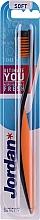 Profumi e cosmetici Spazzolino da denti, Ultimate You, morbido, nero-arancione - Jordan Ultimate You Soft
