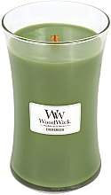 Profumi e cosmetici Candela profumata in vetro - WoodWick Hourglass Candle Evergreen