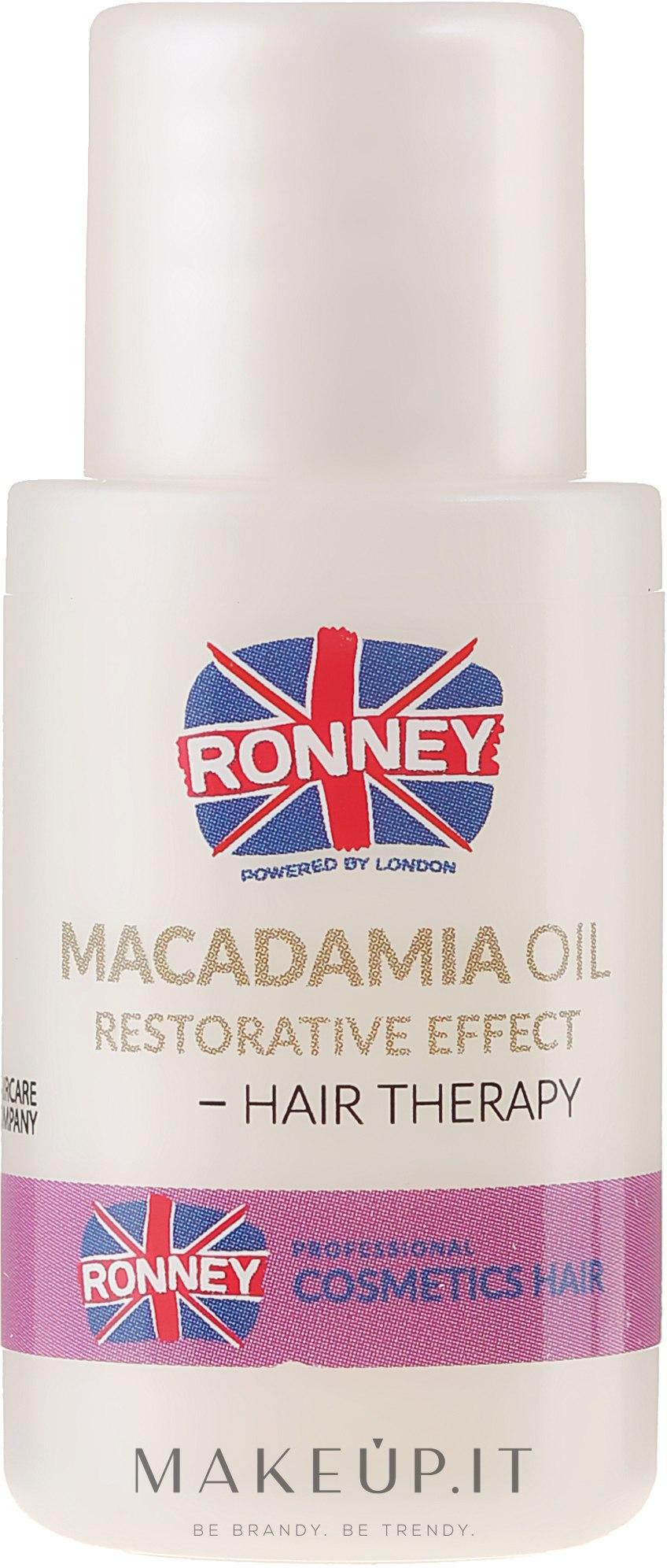 Olio di macada per capelli restitutivo - Ronney Macadamia Oil Restorative Effect Hair Therapymia  — foto 15 ml