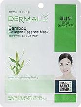 Profumi e cosmetici Maschera viso con collagene e estratto di bambù - Dermal Bamboo Collagen Essence Mask