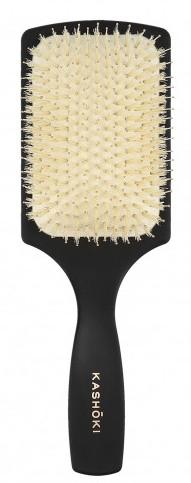 Spazzola per capelli, con setole naturale, rettangolare - Kashoki